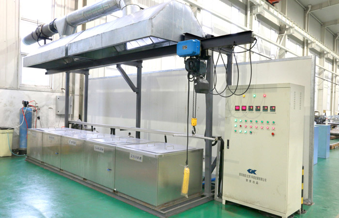 Product parts cleaning machine